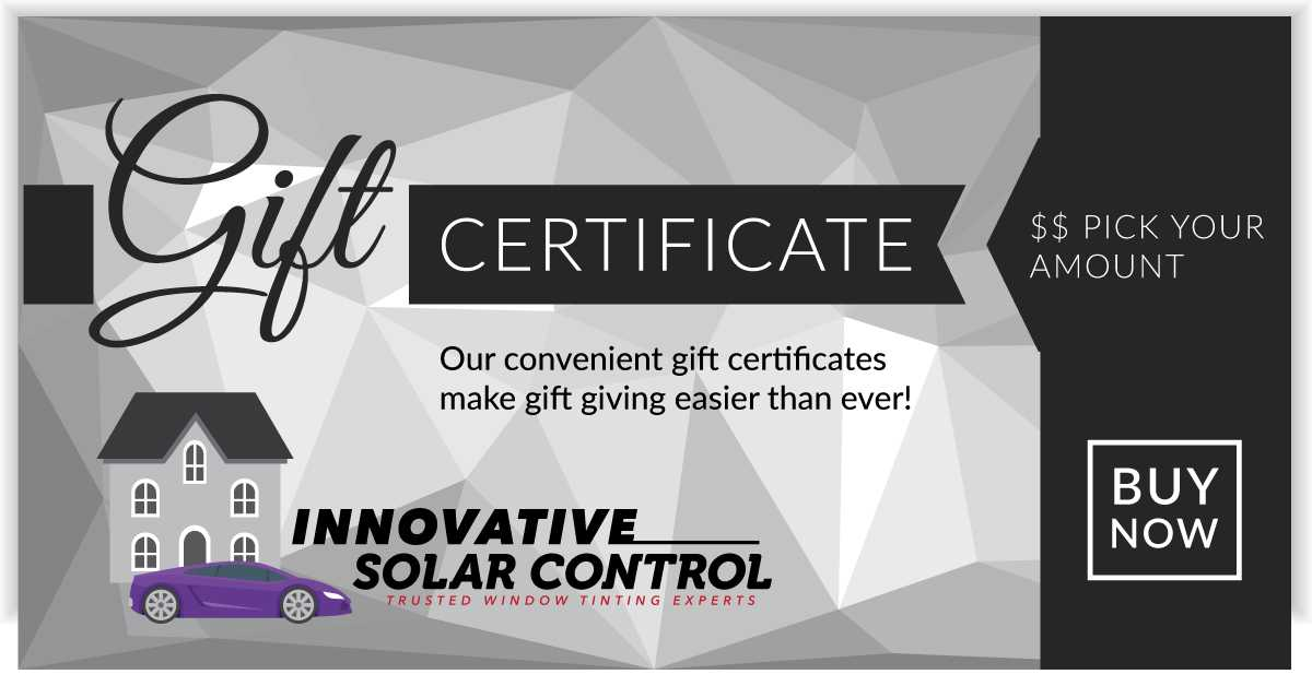 Innovative-Solar-Control-Gift-Certificate